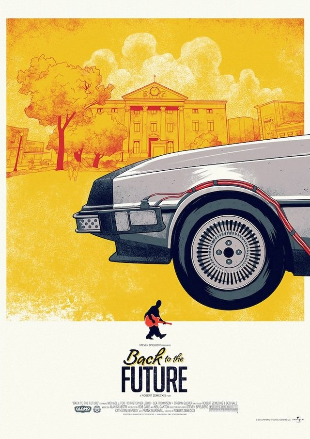 POSTER BACK TO THE FUTURE TRILOGY - DELOREAN - comprar online