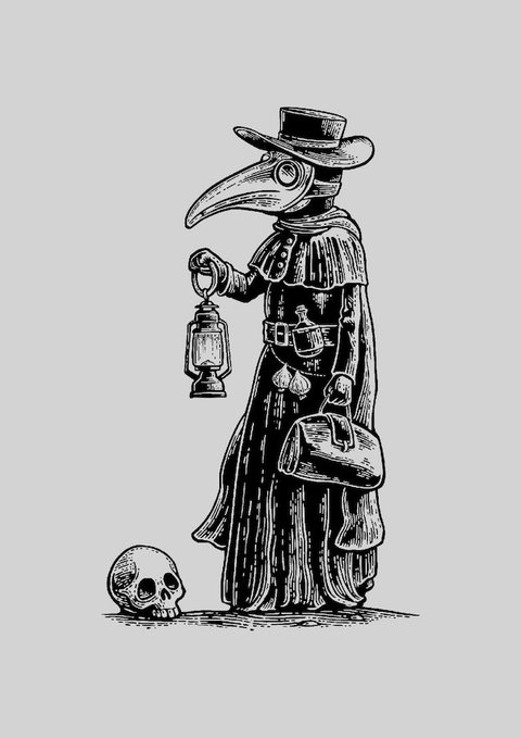 POSTER THE PLAGUE DOCTOR na internet