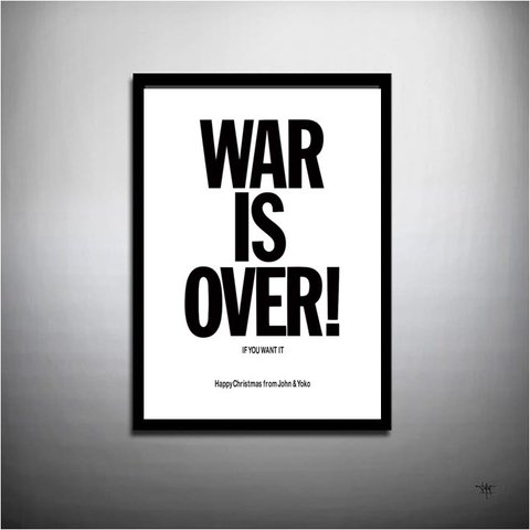POSTER WAR IS OVER - JOHN LENNON