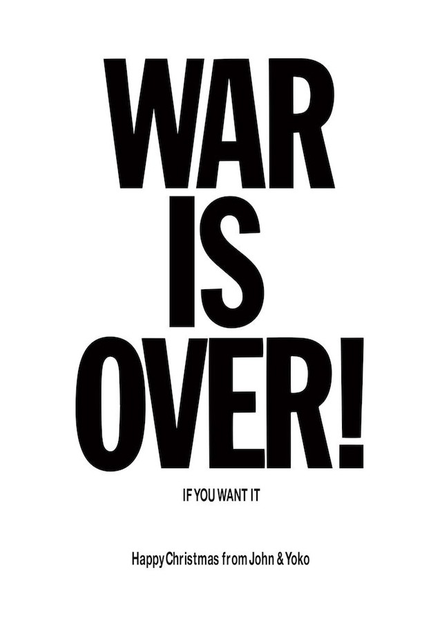 POSTER WAR IS OVER - JOHN LENNON - comprar online