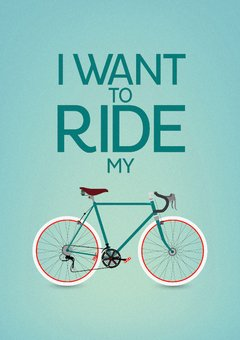 POSTER I WANT TO RIDE MY BIKE - QUEEN - comprar online