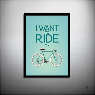 POSTER I WANT TO RIDE MY BIKE - QUEEN