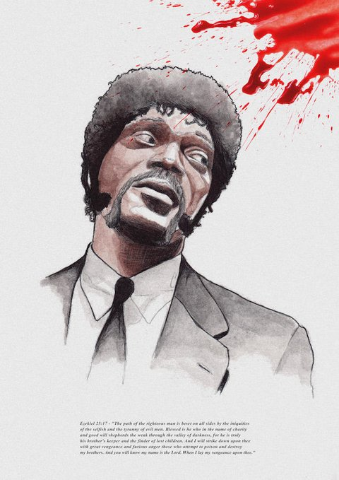 POSTER FILME PULP FICTION - JULES EZEKIEL na internet