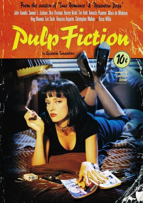 POSTER FILME PULP FICTION - comprar online