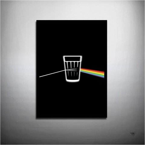 POSTER ROCK PINK FLOYD - DARK SIDE OF BEER