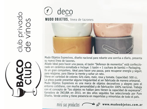 TAZONES DEFENSORES MUDO OBJETOS - Revista ELIXIR de BACO CLUB