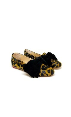 Mocasin Polly Print Pelo Bow (Desmontable) / Talle 35