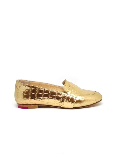 Mocasin Polly Croco Oro