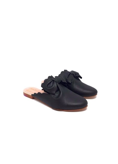 Mules Bow Negro