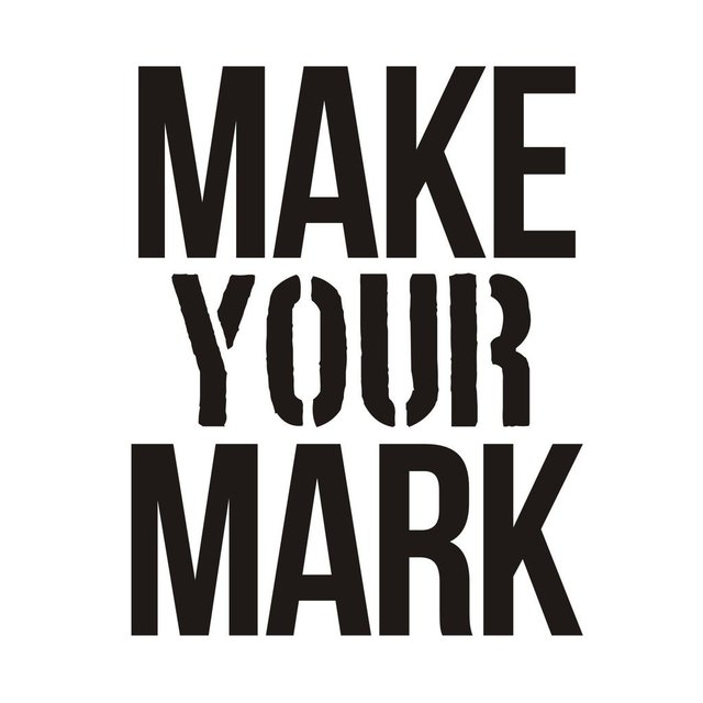 Vinilo Decorativo Make Your Mark -frase013 - comprar online