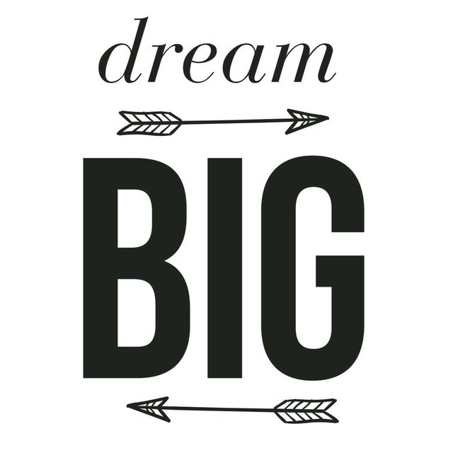Vinilo Decorativo Dream Big - frase003 - comprar online