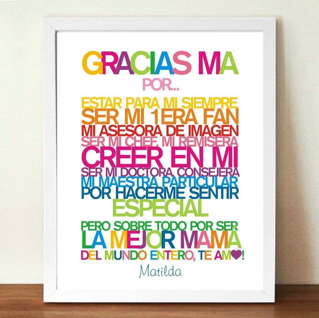 Dorable Foto Personalizada Marcos Para La Mamá Patrón - Ideas de ...