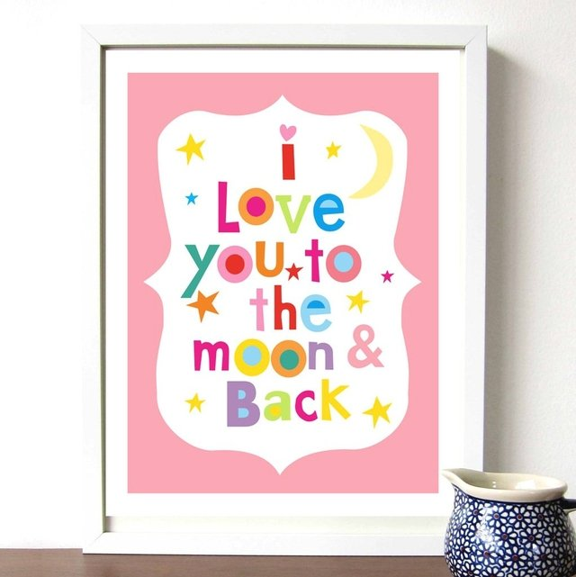 Cuadro ¨Love you to the moon...¨ - comprar online