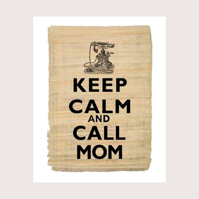 Cuadro Keep Calm and call Mom en internet