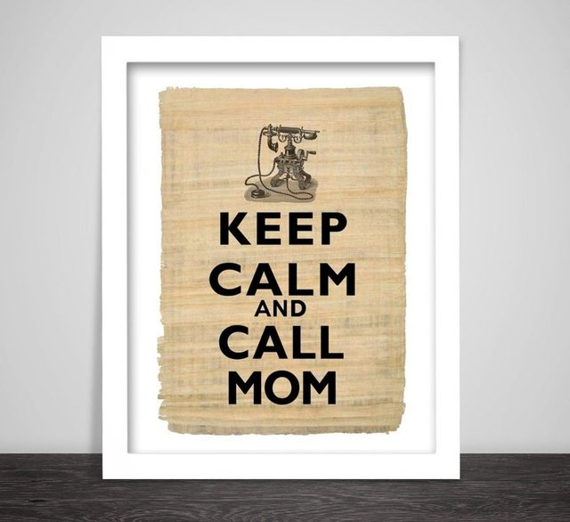 Cuadro Keep Calm and call Mom - comprar online