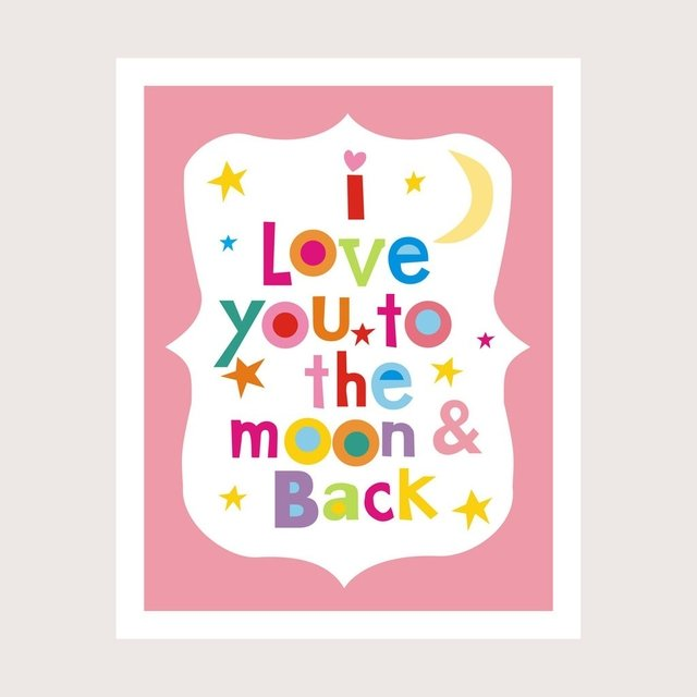 Cuadro ¨Love you to the moon...¨ en internet