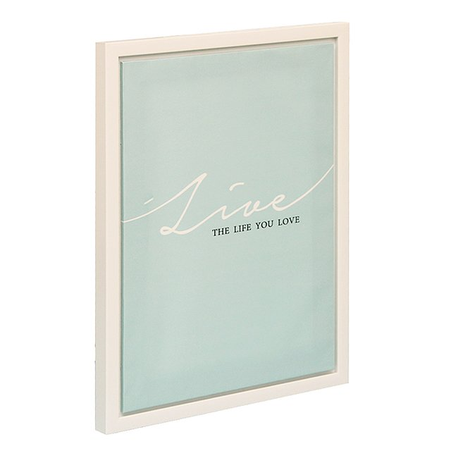Cuadro Marco y Canvas Acqua ¨Live the Life you Love¨ - comprar online