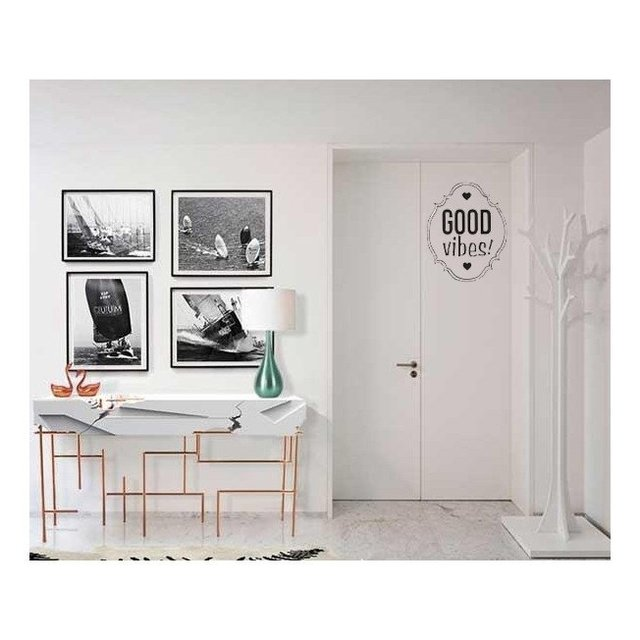 Vinilo Decorativo Good Vibes - frase002 en internet