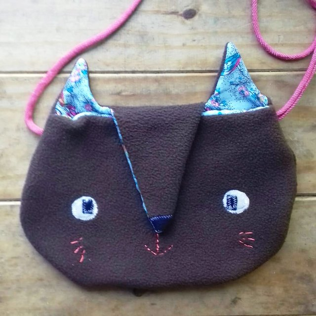 Cartera Gato marrón