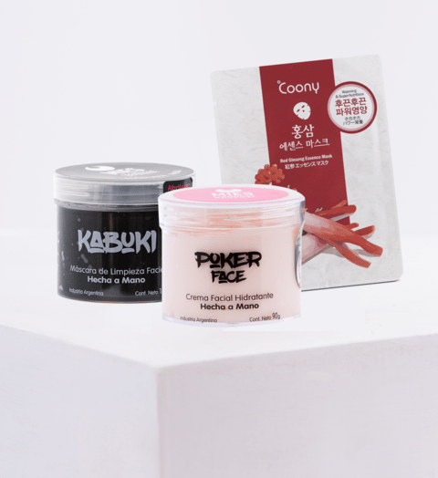 Set Facial 2 (Kabuki + Poker Face + Mascarilla Facial Premium)