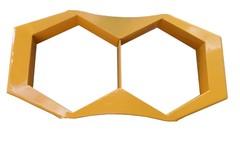 Forma manual p/ paver sextavado de 25 x 8 cm