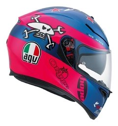 CASCO AGV K3 - SV GUY MARTIN PINK BLUE