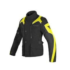 CAMPERA DAINESE TEMPEST D-DRY NEGRA CON VERDE FLUO