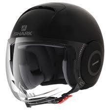 CASCO SHARK MICRO NEGRO BRILLO