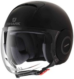 CASCO SHARK MICRO NEGRO MATE XL