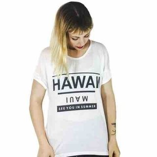 Remera Hawaii (Blanca)