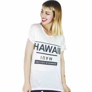 Remera Hawaii (Blanca) - comprar online