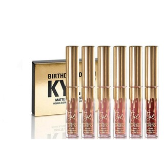 Set De 6 Labiales Min Mate Kylie Jenner Birthday Edition