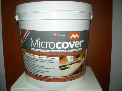 Microcemento Full Blanco tonalizable 5 a 7m2 + 500 cc Laca . (copia)