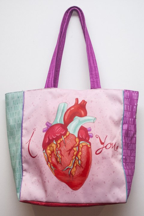 Full Color Tote Heart
