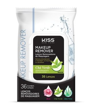 Lenços Kiss new york Demaquilantes Aloe Vera