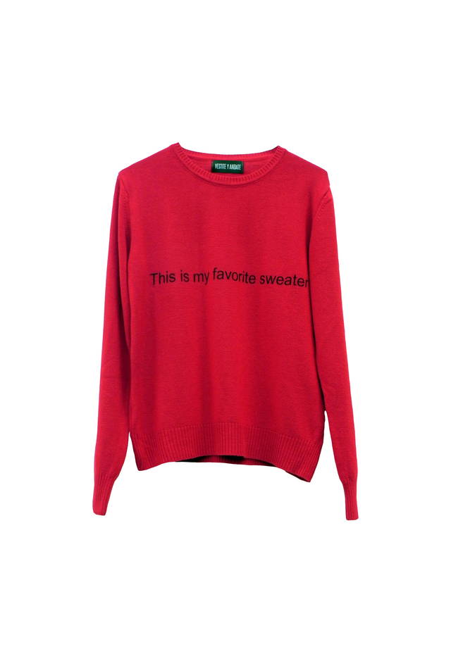 SWEATER FAVORITO ROJO