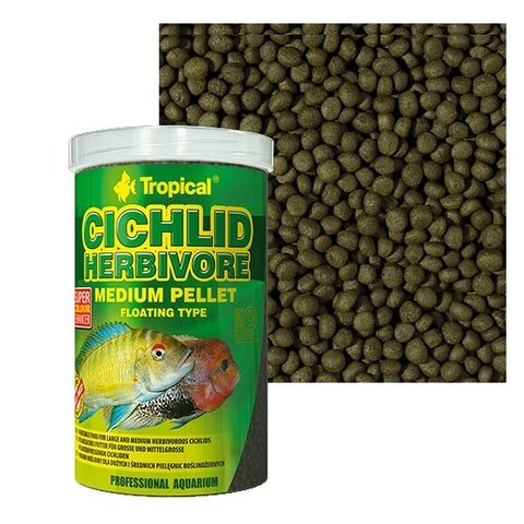 Ração Tropical Cichlid Herbivore Medium Pellet