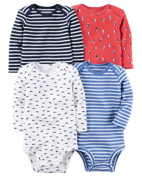 Set de bodies Carter's manga larga estampados - comprar online