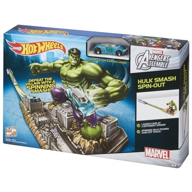 Pista Hot Wheels MARVEL Avengers Hulk. Original Mattel en internet
