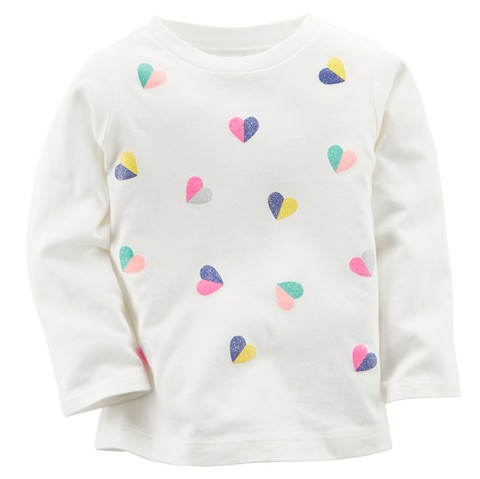 Remera manga larga Carter's corazones