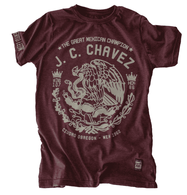 Remera Julio Cesar Chavez - bordo