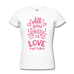 CAMISETA ALL YOU NEED IS LOVE - comprar online