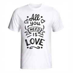 CAMISETA ALL YOU NEED IS LOVE - Lietta