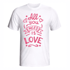 CAMISETA ALL YOU NEED IS LOVE - loja online