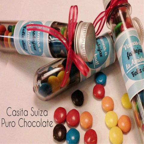 Tubos con Chocolates