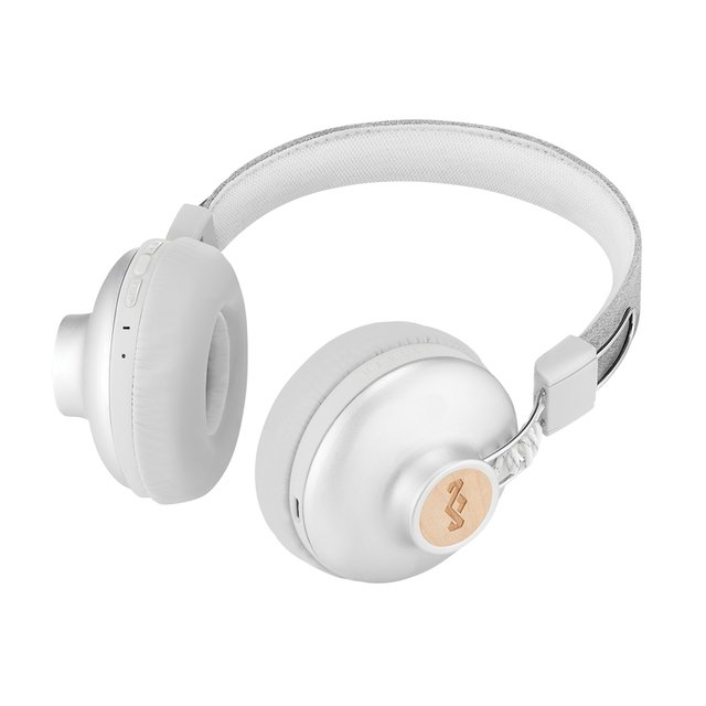 Headphones Positive Vibration Bluetooth SILVER - House Of Marley - Chilly Design