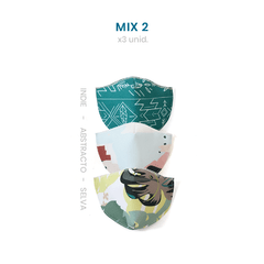 Tapa Bocas Mix 2 (x 3 Unid) Reutilizable Estampado - Chilly - comprar online