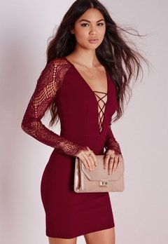 Vestido Miss Burgundy en internet