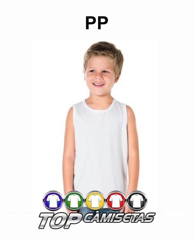 573ec1d9766ce Camiseta Regata Infantil Lisa - Malha PP 100% Poliester