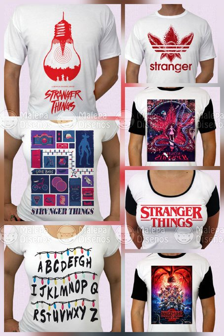 Stranger Things remeras - Tienda Malepa Diseños a49798228a319